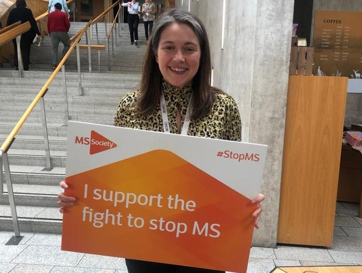 Aileen Campbell MSP MS placard
